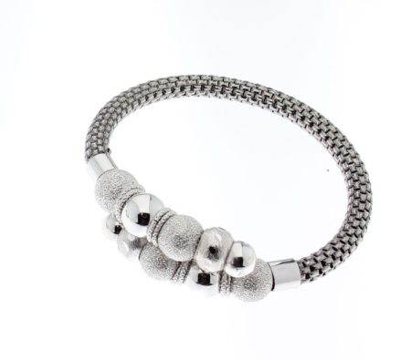 Cross Over Mesh Bangle