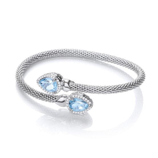 Bethany Bangle with Blue Topaz Bracelet