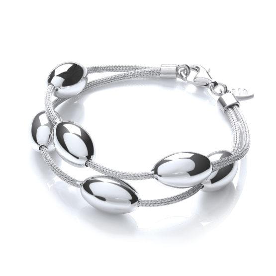 Two-Row Oval Beads Bracelet