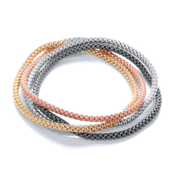 4 Strand Multi Colours Fancy Bracelet
