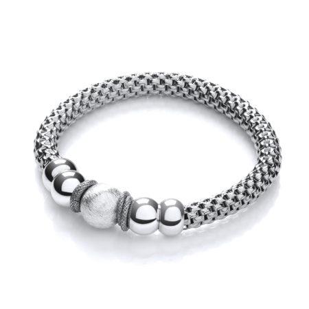 Mesh Ruthenium Finish Fancy Bracelet