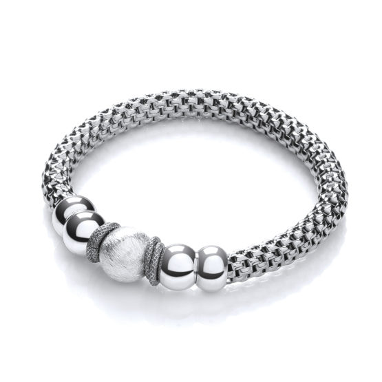 Mesh Ruthenium Finish Fancy Bracelet