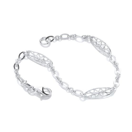 Oval Filigree Links Bracelet