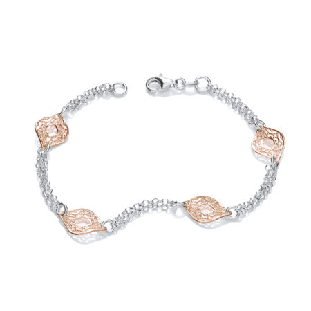 TABITHA Rose Gold and Silver Links Bracelet