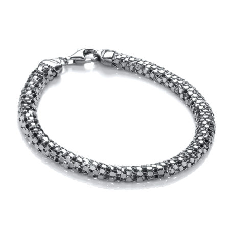 D-Shape Ruthenium Colour Mesh Bracelet