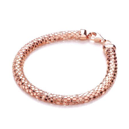 D-Shape Rose Colour Mesh Bracelet