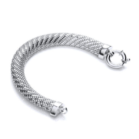 925 Sterling Silver Mesh Bracelet