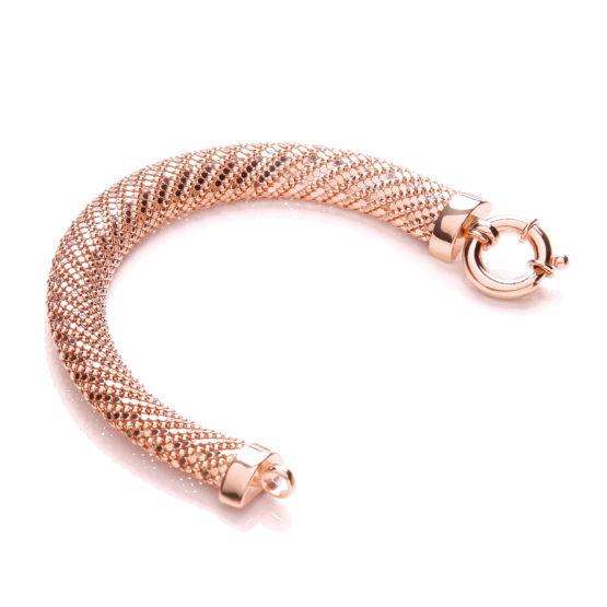 Rose Plated Mesh Bracelet