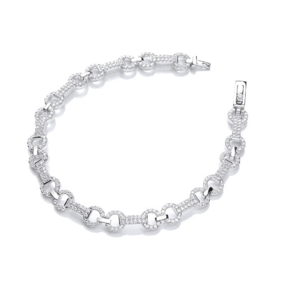 Micro Pave' 280 White Cz's Bracelet 7.5″/19cm