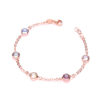 RG Coated Rubover 6 Multi Coloured Cz's 7″/19cm Bracelet