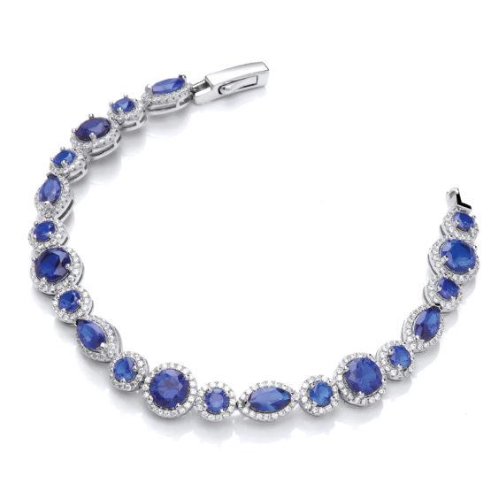 JJAZ 14K Sapphire Antique Jewellery Bracelet