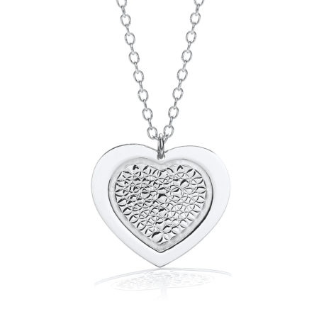 "Heart Pendant with 18"" Necklace"