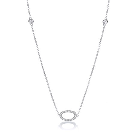 """925 Sterling Silver Diamond by the Yard Cz Style 36"""" Necklace"""