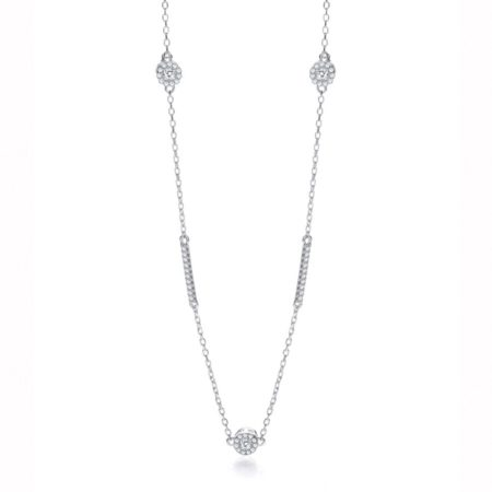 "925 Sterling Silver Diamond by the Yard Style 36"" Necklace"