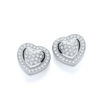 Micro Pave' Heart Stud