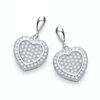 Micro Pave' Heart Drop Earring