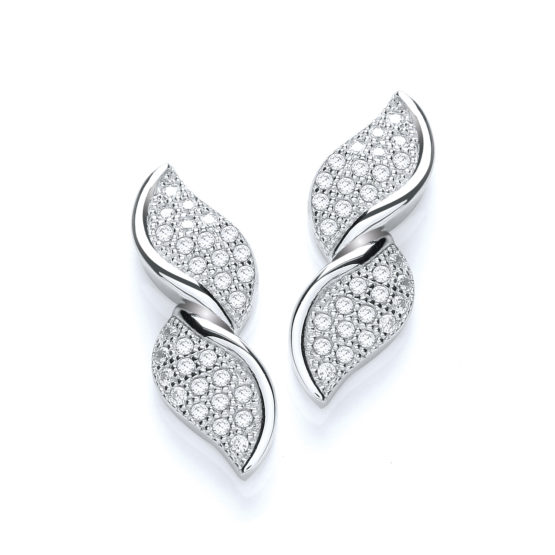 Micro Pave' Fancy Twist Stud