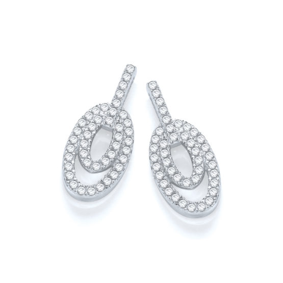 Micro Pave' Fancy Drop Earring