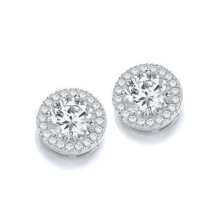 JJAZ 925 STERLING SILVER DIAMOND EARRINGS GIFTS FOR WOMEN GIRLS FINE JEWELLERY