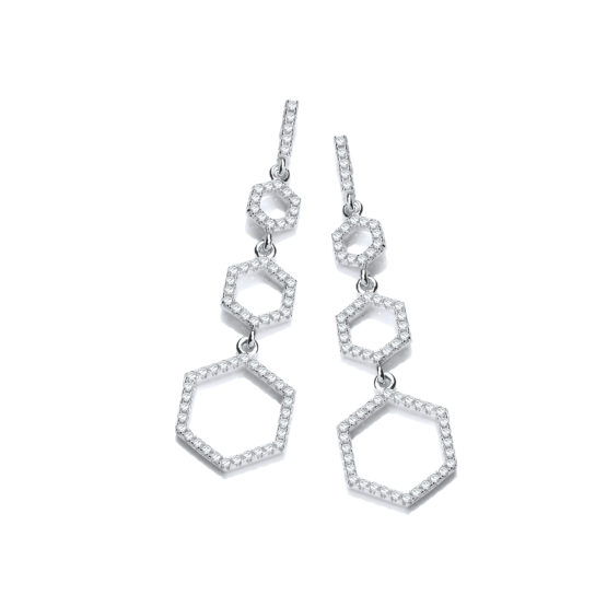 Arlene Drop Earrings Honeycomb
