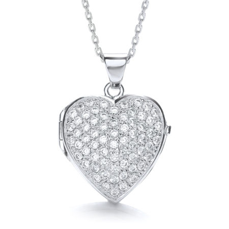 CATHERINE LARGE HEART LOCKET