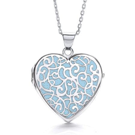 ALICE HEART BLUE LOCKET