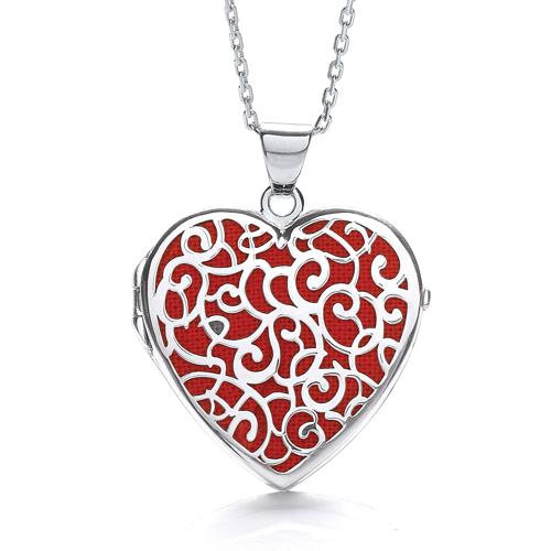 ALICE HEART RED LOCKET