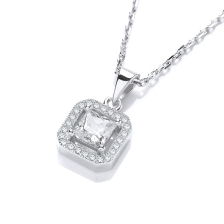 Ingrid Simulated Diamond Pendant Necklace
