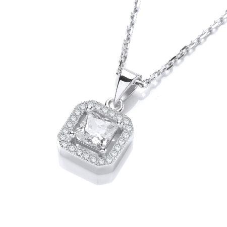 Ingrid Simulated Diamond Pendant Necklace