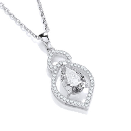 Alicia CZ Diamond Pendant Necklace