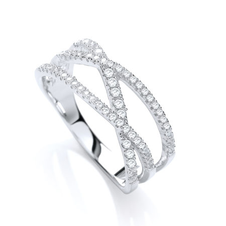 925 Sterling Silver CZ Engagement Wedding Ring Valentine gift White Gold finish
