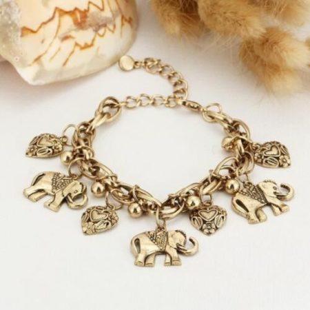Healing Copper Elephant Charm Bracelet